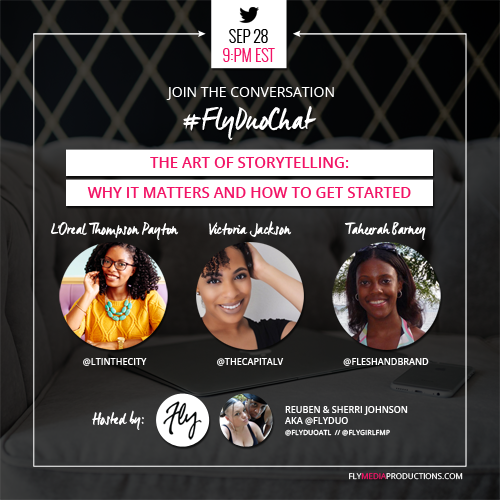 The Art of Storytelling: Why it Matters and How to Get Started - #FlyDuoChat SEP 2016 thumbnail image