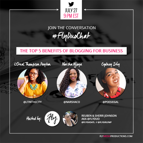 The Top 5 Benefits of Blogging for Business - #FlyDuoChat JUL 2016 thumbnail image