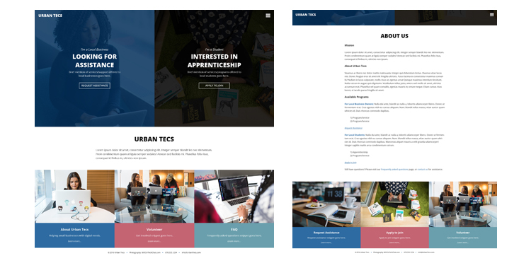 The Urban Tecs Website (Minimal Viable Product) - Customdesigned and Developed in Less Than 48hrs