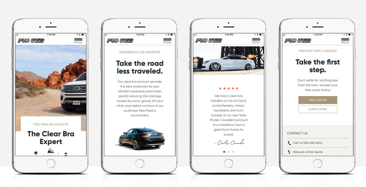 Pro-Trim Mobile Experience